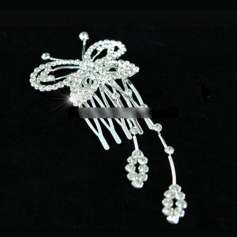 Peigne cristal papillon