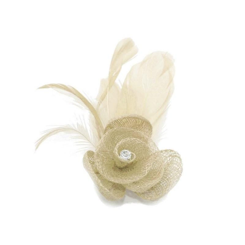 Chapeau mariage Petit accessoire de coiffure strass ivoire