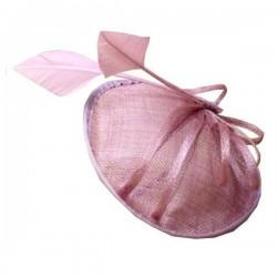 Chapeau mariage Chapeau cérémonie plumes violet