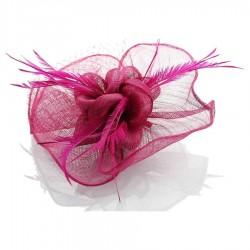 Chapeau mariage Bibi accessoire de coiffure rose fuchsia
