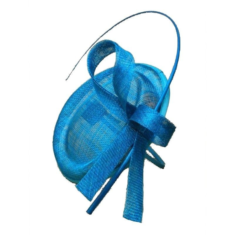 Chapeau mariage Bibi mariage calot bleu turquoise