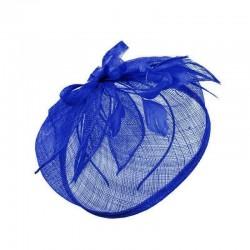Chapeau mariage Chapeau de mariage plumes bleu vif