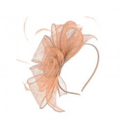 Chapeau mariage Accessoire de coiffure nude peche