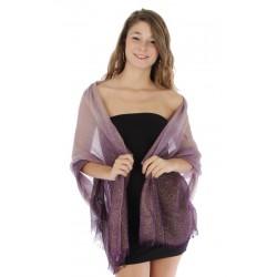 Foulard Etole dégradée mauve violet