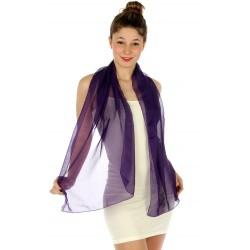 Foulard Etole voile léger violet