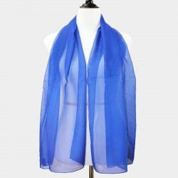 Foulard Etole en voile bleu royal