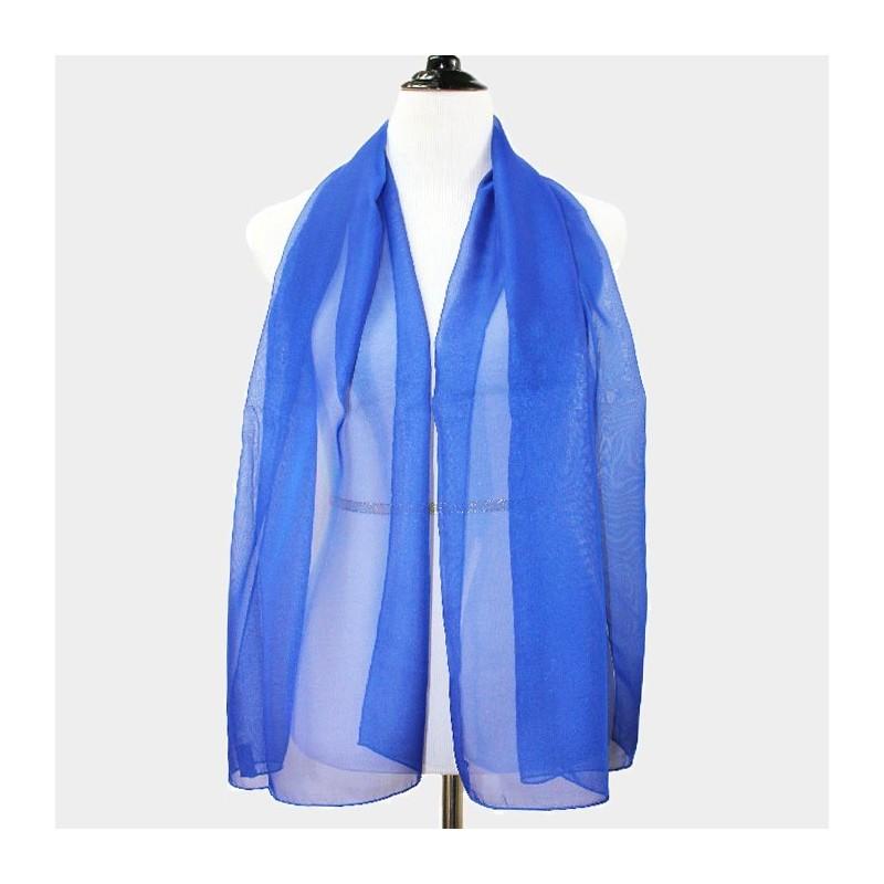 Foulard Etole en voile bleu royal 1010db08dd6
