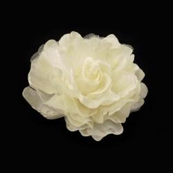 Broche ou fleur cheveux ivoire 8 cm