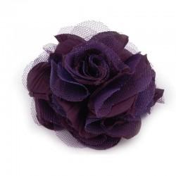 Grosse fleur cheveux ou broche violet