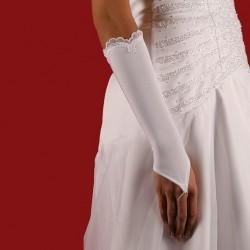 Mitaines mariage bordés dentelle plumetis fleurs