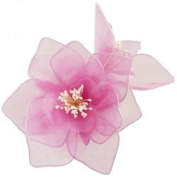 Double fleur organza rose