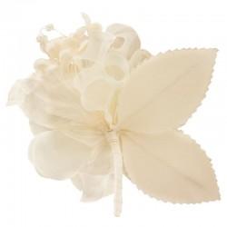 Bouquet de fleurs satin ivoire