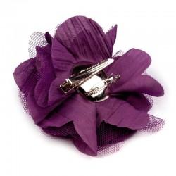Grosse fleur cheveux ou broche rose fushia