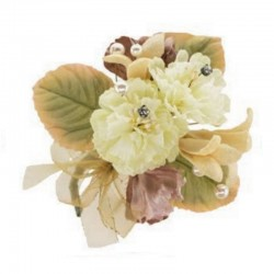 Bouquet de fleurs soie ivoire
