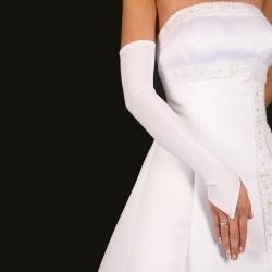 Longs gants mariage satin