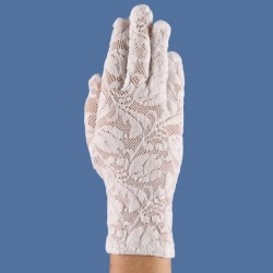 Gants blancs dentelle extensible