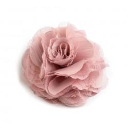 Grosse fleur cheveux ou broche rose