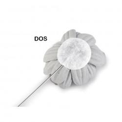 Broche épingle perle et fleur rose