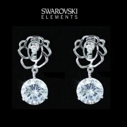 Boucles d oreilles avec cristal Swarovski