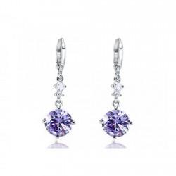 Boucles d oreilles zirconia violet