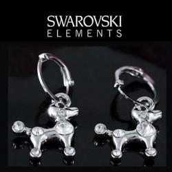 Boucles d oreilles petit chien cristal Swarovski