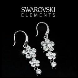 Boucles d oreilles fleur cristal Swarovski