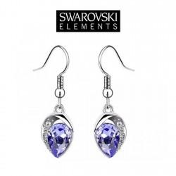 Boucles d oreilles goutte Swarovski violet