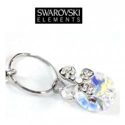 Boucles d oreilles papillon cristal Swarovski reflets AB