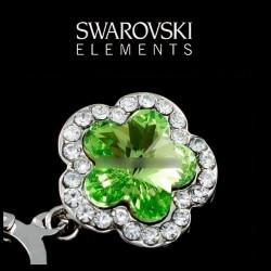 Boucles d oreilles cristal Swarovski vert