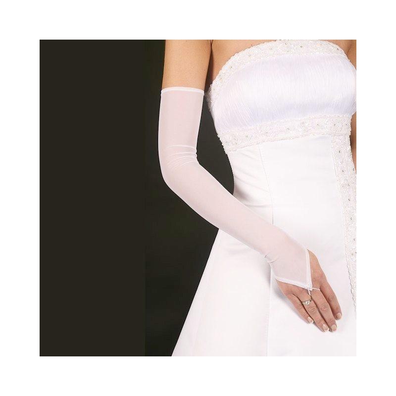 Longs gants  mariage voile transparent