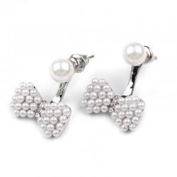 Boucles d oreilles noeud perles