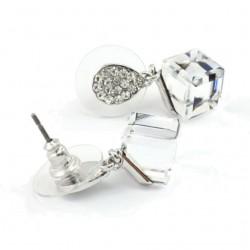 Boucles d oreilles cubes cristal Swarovski