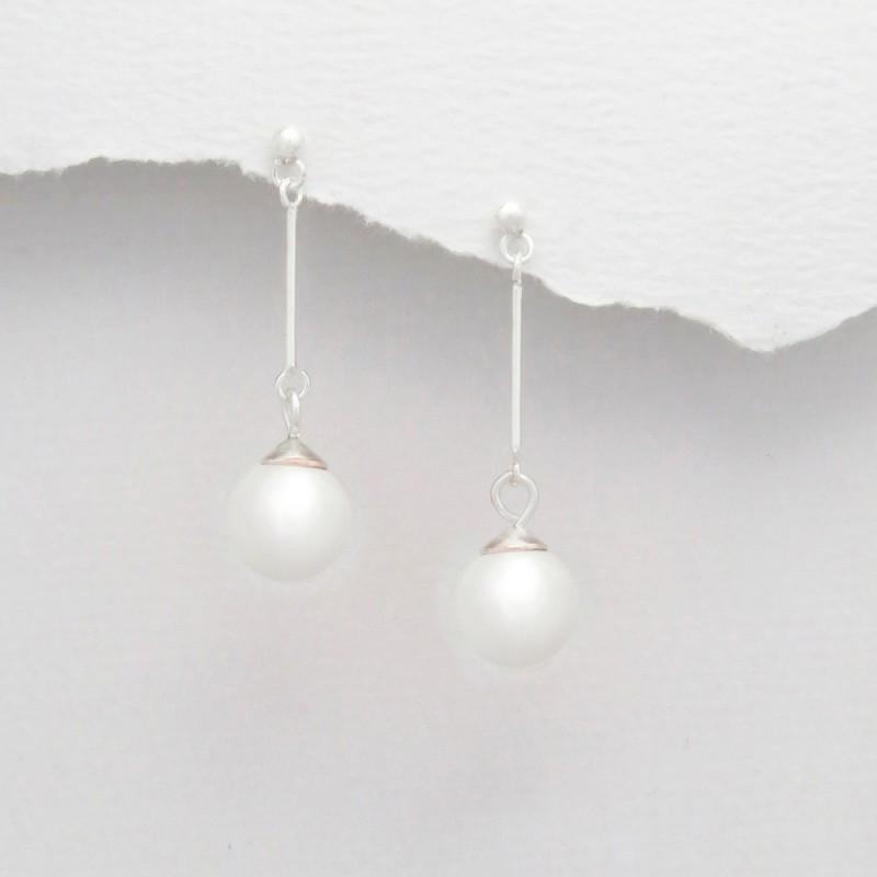Boucles d oreilles perle