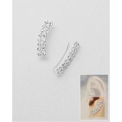 Boucles oreilles lobes cristal