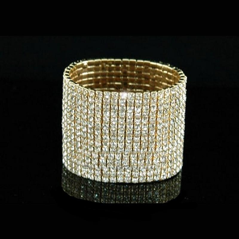 Bracelet 12 rangs strass OR