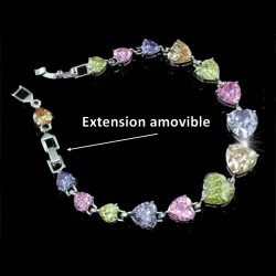 Bracelet coeur multicolores