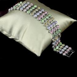 Bracelet en strass multicolore