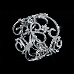 Bracelet arabesques strass style vintage