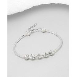 Bracelet avec plusieurs shamballa cristal