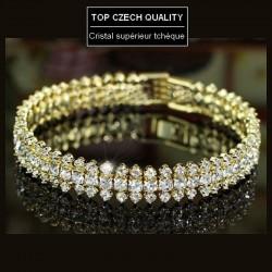 Bracelet de mariage or et strass