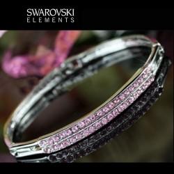 Bracelet en cristal Swarovski rose
