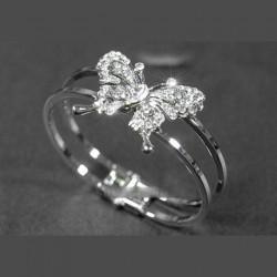 Bracelet rigide papillon strass cristal