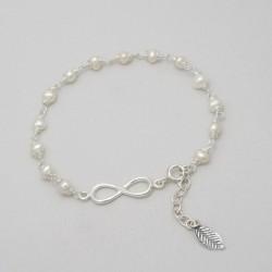 Bracelet en perles et argent
