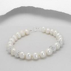 Bracelet perles et shamballa cristal