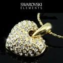 Collier coeur cristal Swarovski or style shamballah
