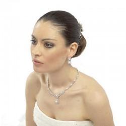 Parure de bijoux chic perles et cristal