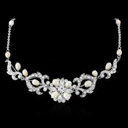 Parure mariage perles et cristal de Bohème