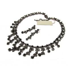 Parure de bijoux cristal noir