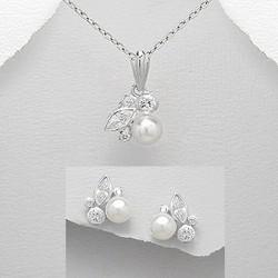 Parure bijoux cristal perles