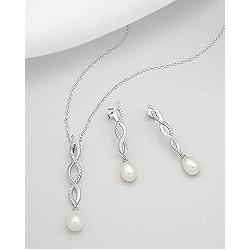 Parure de bijoux mariee perle torsade